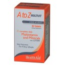Health Aid A to Z MULTIVITΑMINE RALS PLUS LUTEIN (30tabs)